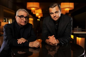 Martin Scorsese (left) and Leonardo DiCaprio (right).  Photo by Robert Hanashiro (USA TODAY).