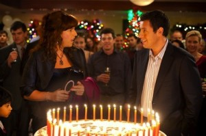 Jill (Adam Sandler) and Jack (Adam Sandler) celebrating their birthday.
