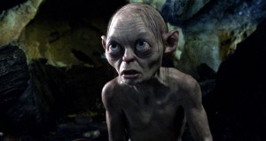 The returning Gollum (Andy Serkis) isn't too sure yet what to make of The Hobbit.