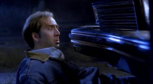 Drifter Michael Williams (Nicolas Cage) stares into the radiator of a car - and into the face of death.