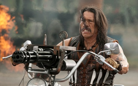 Machete Cortez (Danny Trejo) shoots his way through Mexico, Texas - and even into outer space.