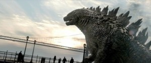 Godzilla prepares to save mankind.