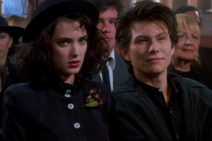 Veronica (Winona Ryder, left) and her boyfriend J.D. (Christian Slater, right) have grand plans.