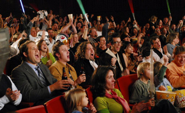 The Fanboys eagerly await the opening of Star Wars Episode I: The Phantom Menace.