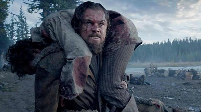 Hugh Glass (Leonardo DiCaprio) seeks vengeance.